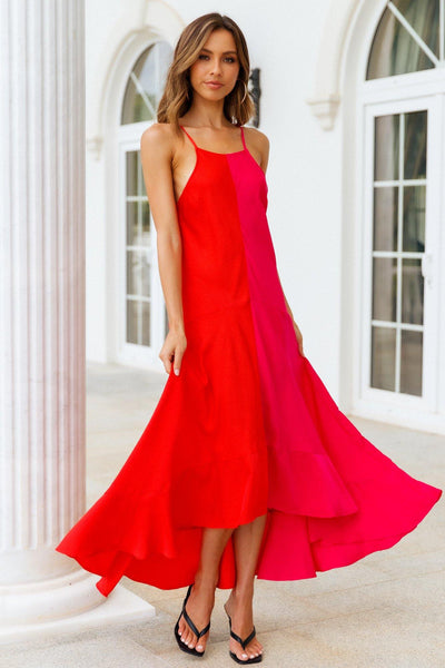 Pick Sides Maxi Dress Red | Hello Molly USA