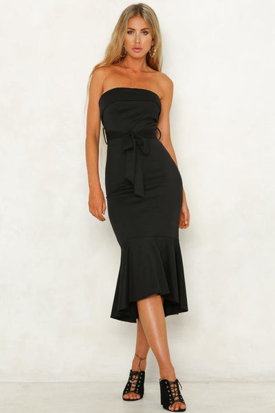I Know You Care Midi Dress Black