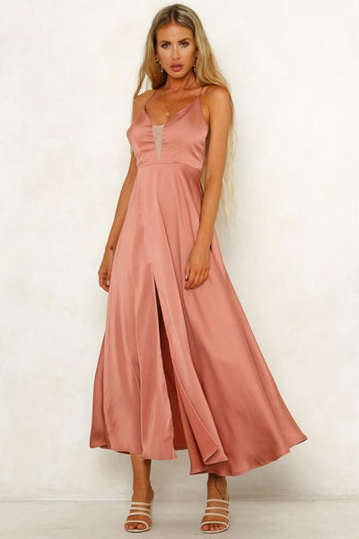 Hard To Deny Maxi Dress Rose | Hello Molly USA