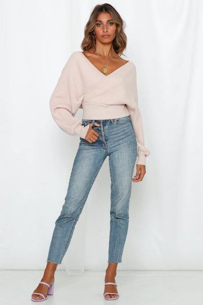 Gave Me You Crop Knit Nude