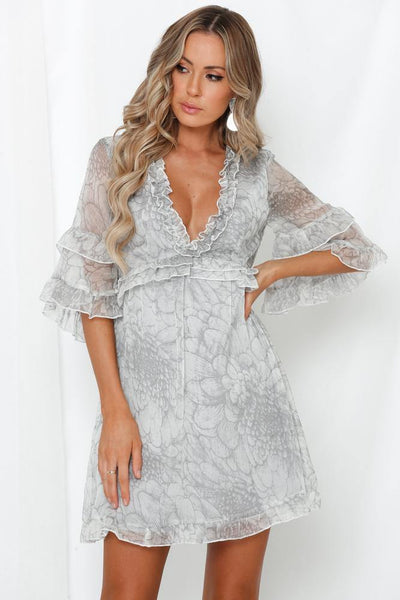Can You Keep A Secret Dress Grey | Hello Molly USA