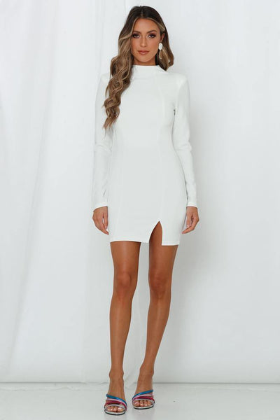 Moonlight Confessions Dress White