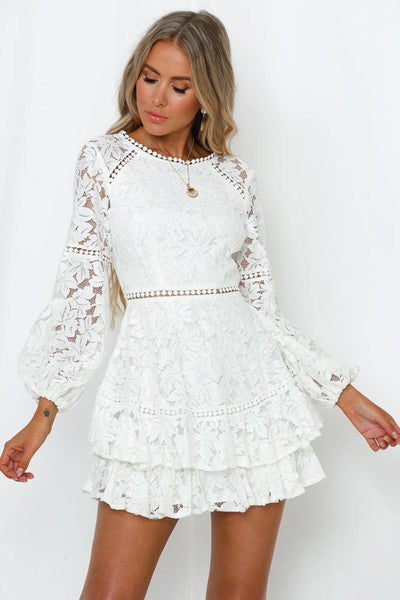 Knew You Were Trouble Dress White