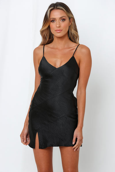 Just Between Us Dress Black