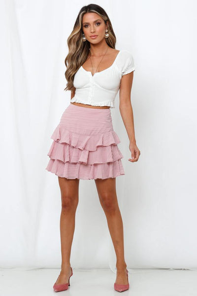 Tune Me Out Skirt Blush