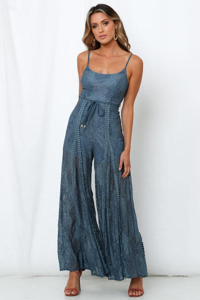 Foot In The Door Jumpsuit Midnight Blue | Hello Molly USA