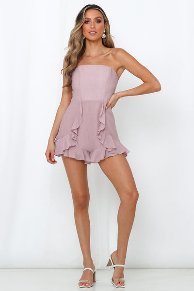 Ask Me Anything Romper Blush
