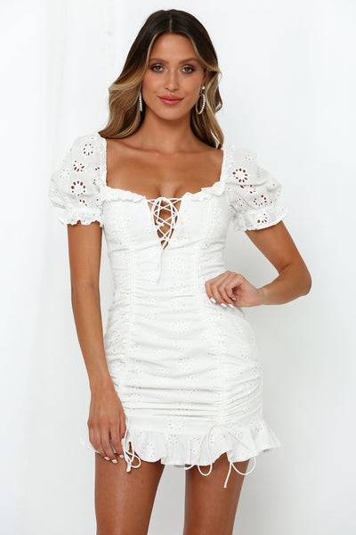 Saved By The Bell Dress White