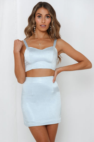 Fleeka Crop Blue