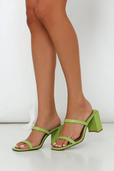 JAGGAR Square Heels Lime Green | Hello Molly USA