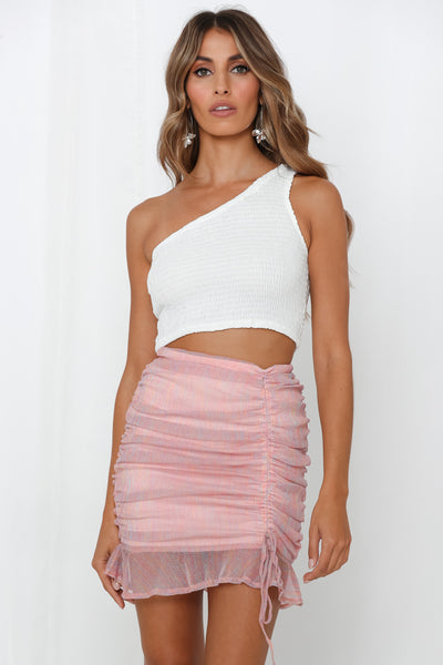 Back In Business Skirt Metallic Pink