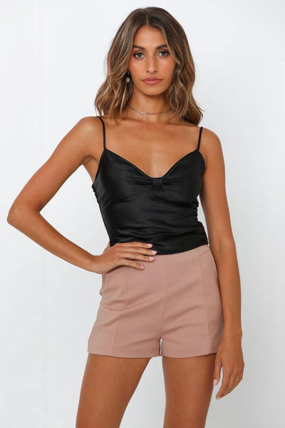 Fight For Love Crop Camisole Black