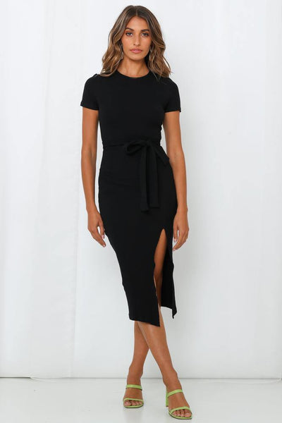 Delirium Midi Dress Black