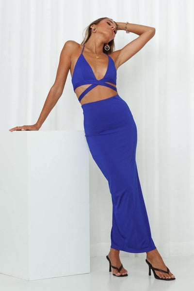 Fireworks Maxi Skirt Royal Blue