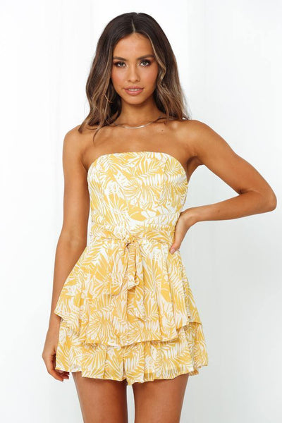 Hot Sun Romper Yellow