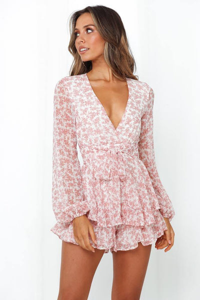 Glitter Beneath My Feet Romper Pink