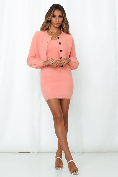 Takes One To Know One Knit Cardigan Coral | Hello Molly USA