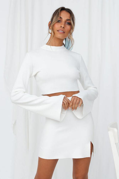 In Real Time Crop Jumper White