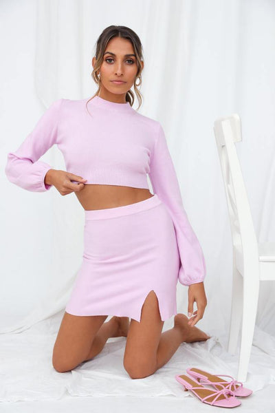 Cold Outside Knit Top Lilac | Hello Molly USA