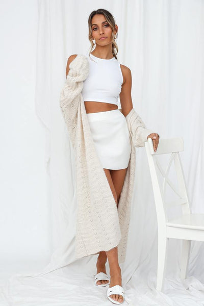 Wanna Take It Slow Knit Cardigan Cream | Hello Molly USA