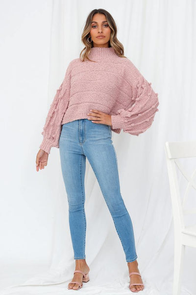 For Your Information Knit Top Rose | Hello Molly USA