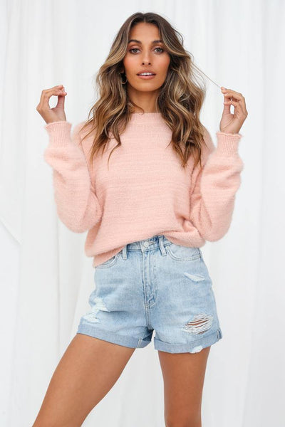 Give Them A Smile Knit Top Pink | Hello Molly USA