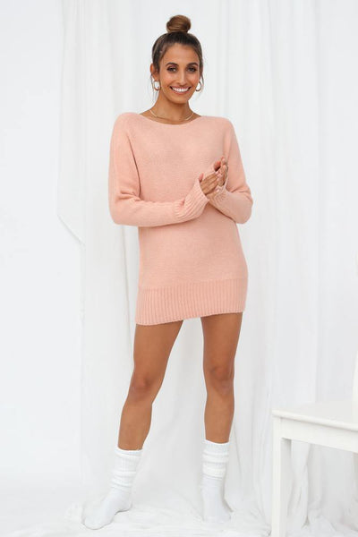 Not My Reality Knit Jumper Pink
