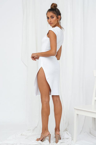 LIONESS Don't Blame Me Mini Dress White | Hello Molly USA