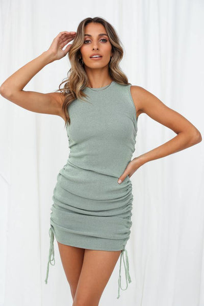 LIONESS Military Minds Mini Dress Sage