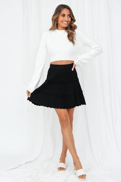 Coming Clean Knit Skirt Black | Hello Molly USA
