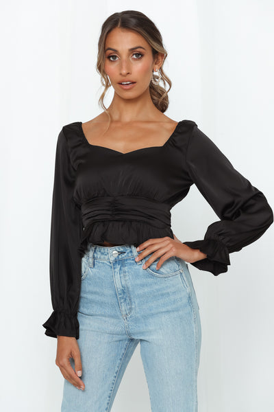 Sucker For Your Love Crop Top Black