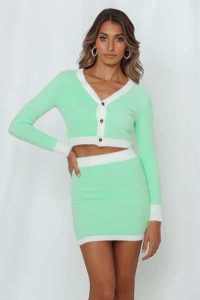 Maximum Views Guaranteed Knit Cardigan Mint | Hello Molly USA