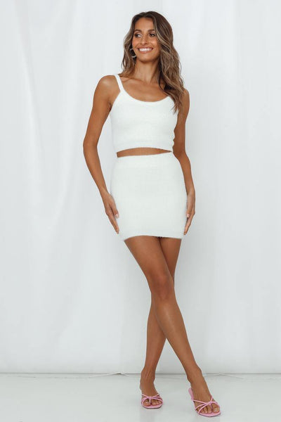 Takes One To Know One Knit Skirt White | Hello Molly USA