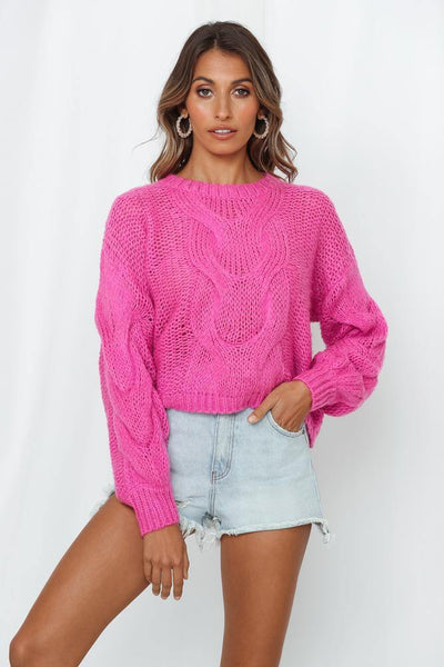 Game Set Match Knit Jumper Hot Pink