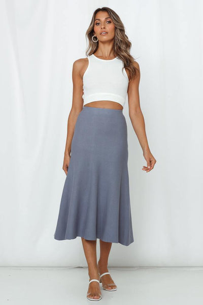 Dancing Slippers Midi Skirt Midnight Blue | Hello Molly USA