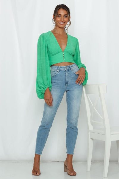 Agyness Top Green | Hello Molly USA