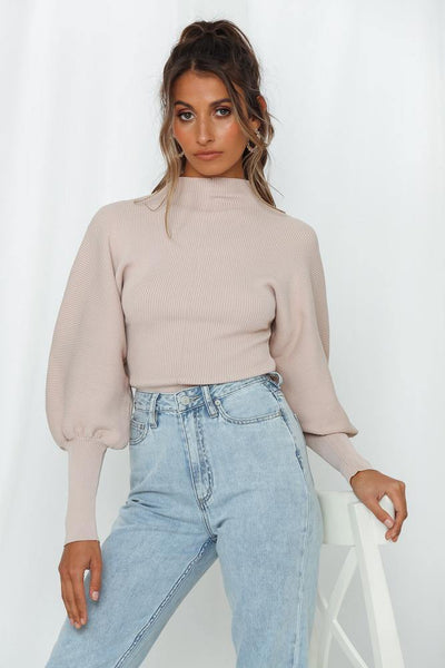 Hey Back Up Knit Top Blush