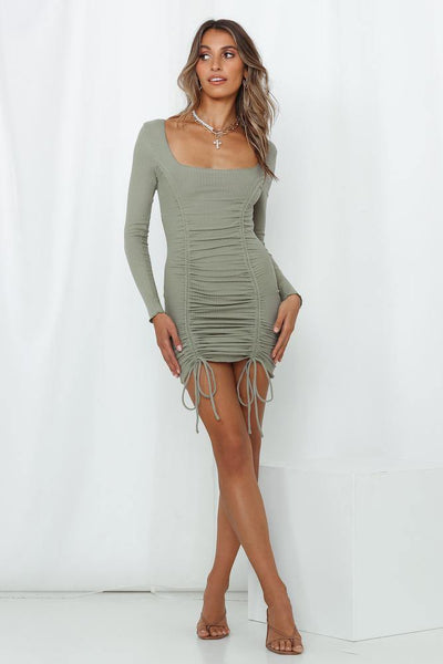 Babe Fest Dress Khaki | Hello Molly USA
