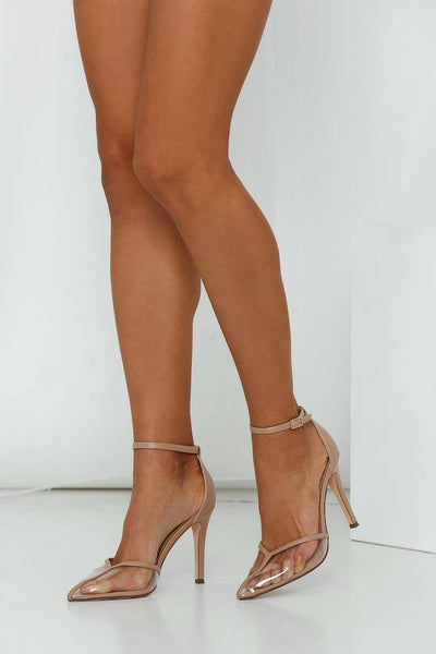 A LIST Halliwell Heels Nude Clear