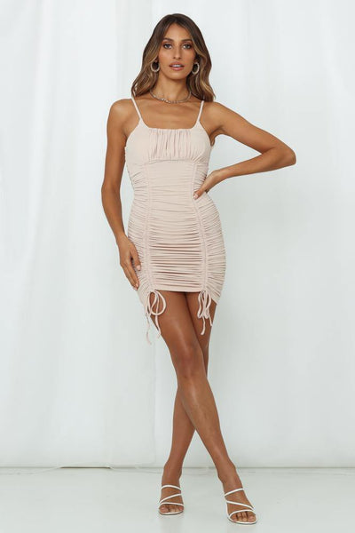 Looking Like A Supermodel Dress Beige | Hello Molly USA