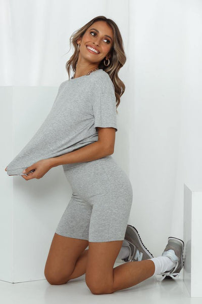HELLO MOLLY Rest Your Eyes Shorts Grey | Hello Molly USA