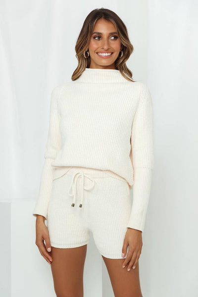 Late Night Wine Knit Jumper Ivory
