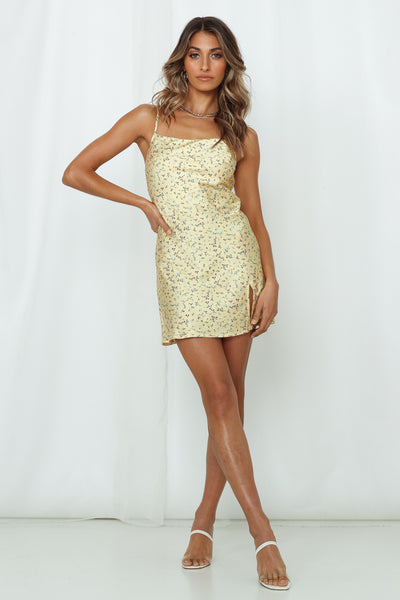 Chilled Kahlua Dress Yellow
