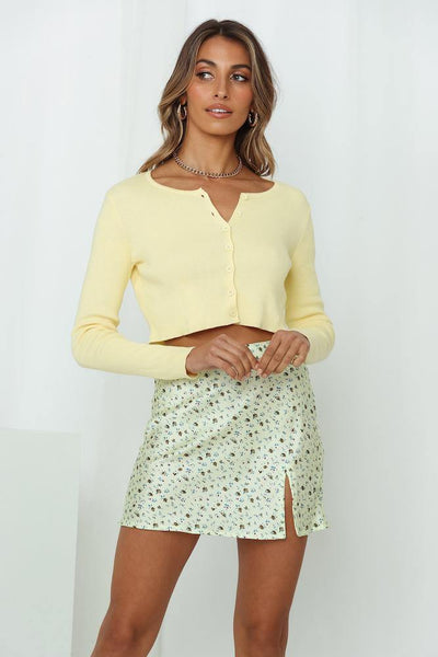 Loving Leia Knit Cardigan Yellow | Hello Molly USA