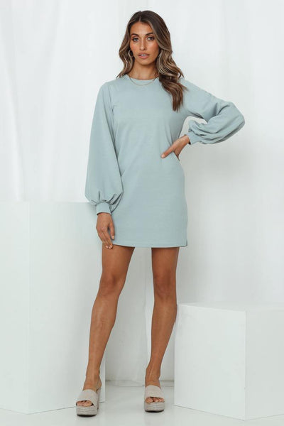 HELLO MOLLY Girl Club Dress Duck Egg Blue | Hello Molly USA