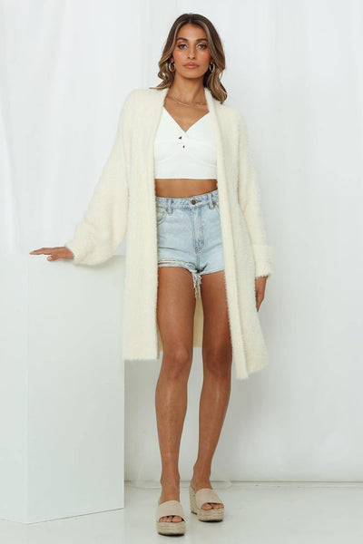 Insider Edition Knit Cardigan Cream