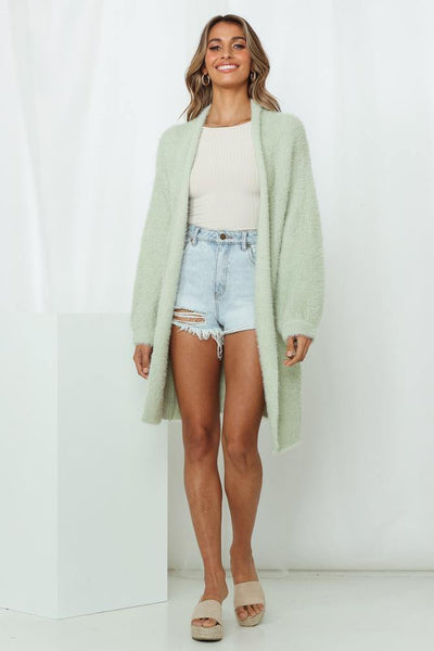 Insider Edition Knit Cardigan Sage