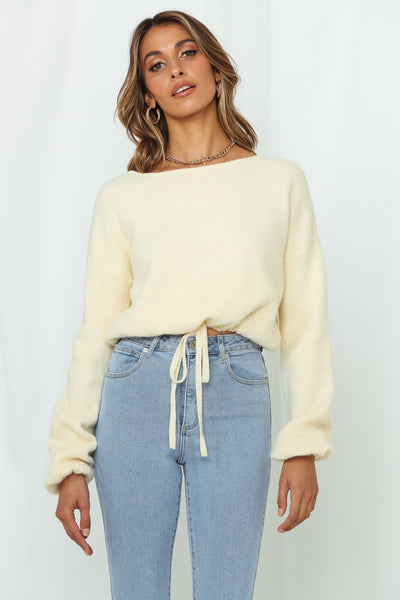 Fashion Savvy Knit Top Cream