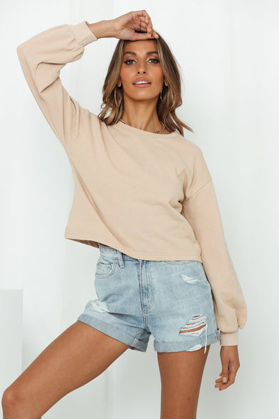 HELLO MOLLY Laidback Lover Top Beige