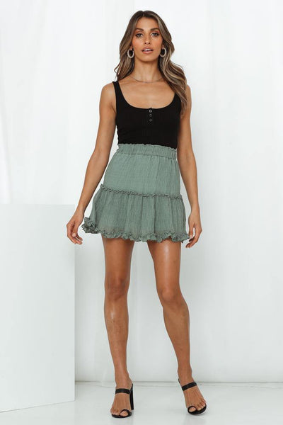Blinded By The Light Skirt Olive | Hello Molly USA